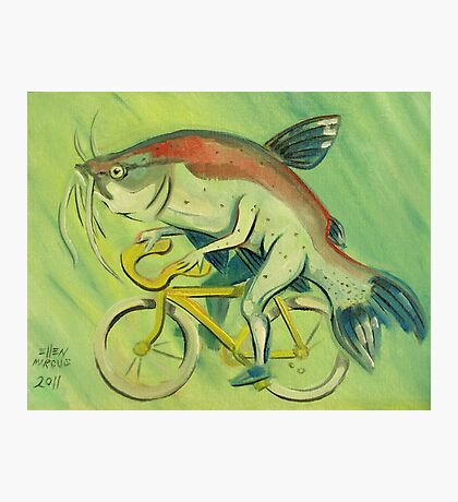 Catfish on a Bicycle Photographic Print