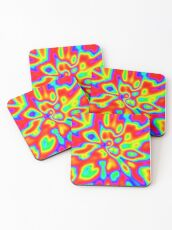 Abstract random colors #1 Coasters