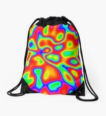 Abstract random colors #1 Drawstring Bag
