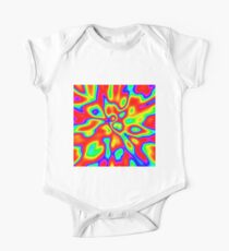 Abstract random colors #1 Short Sleeve Baby One-Piece