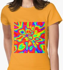 Abstract random colors #1 Fitted T-Shirt