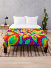 Abstract random colors #1 Throw Blanket