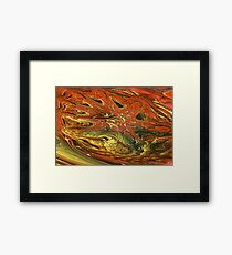 Fractal Fungus Framed Print