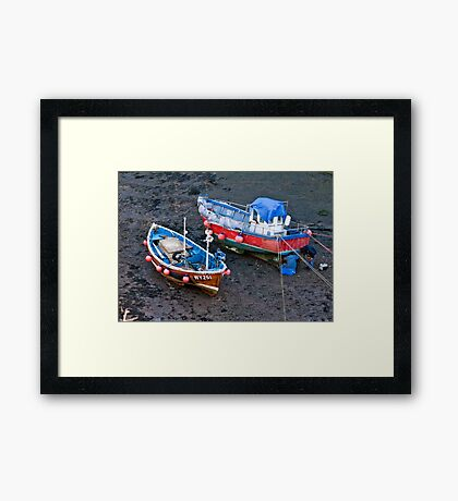 Flora Jane - Staithes Harbour. Framed Print
