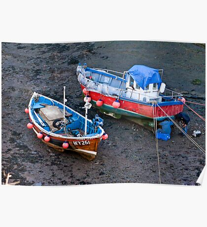 Flora Jane - Staithes Harbour. Poster