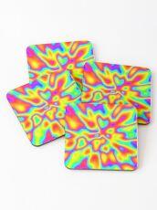 Abstract random colors #2 Coasters