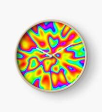Abstract random colors #2 Clock