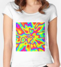Abstract random colors #2 Fitted Scoop T-Shirt