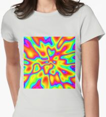 Abstract random colors #2 Fitted T-Shirt