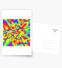 Abstract random colors #2 Postcards
