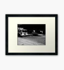 NYC Snowplow at Night Framed Print