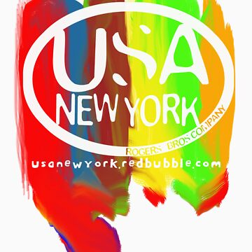 usa new york tshirt by rogers bros co by usacalifornia