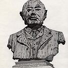 113 - MATTHEW WHITE RIDLEY STATUE - DAVE EDWARDS - INK - 1985 by BLYTHART