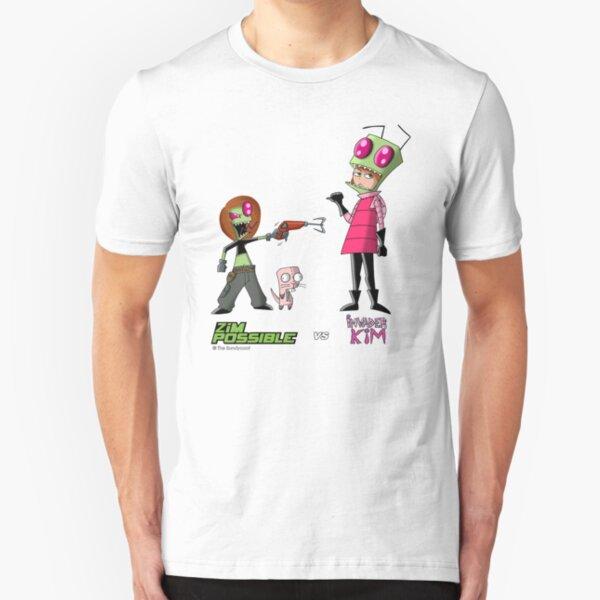 Zim Possible vs Invader Kim Slim Fit T-Shirt