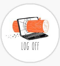 Log Off Glossy Sticker