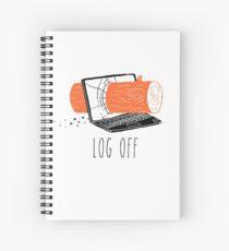 Log Off Spiral Notebook