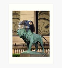 Art Institute Hawks Lion Art Print
