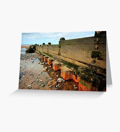 Low Tide Groyne Greeting Card