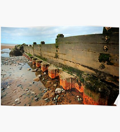 Low Tide Groyne Poster