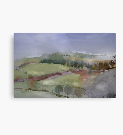 The Misty Hills of Perthshire Canvas Print