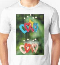 wooden hearts Unisex T-Shirt