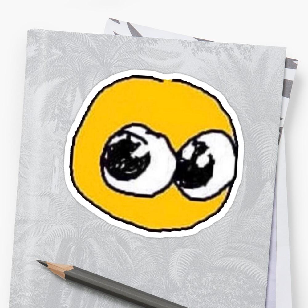 """""""cursed Emoji"""" Sticker By Atisutokami"""