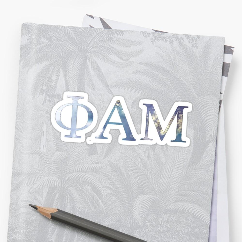 Phi Alpha Mu Sticker
