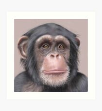 A. Chimp Art Print