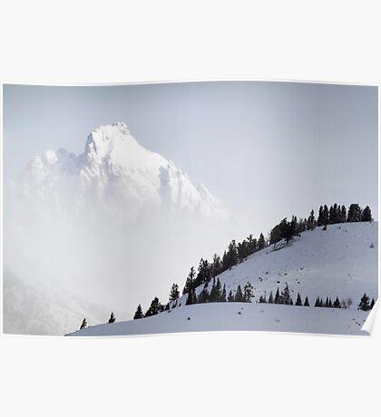The Grand Teton - Floating Over Hansen Peak Poster