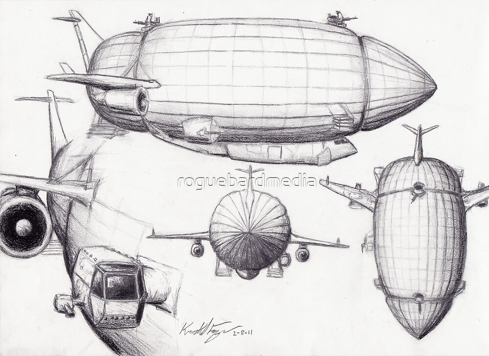 Diagram of a Zeppelin made from Spare Parts by roguebardmedia