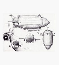 Diagram of a Zeppelin made from Spare Parts Photographic Print