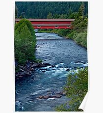 The Office Covered Bridge in the Oregon Cascades Poster