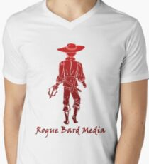 Rogue Bard Media logo Men's V-Neck T-Shirt