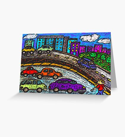 Outer City Traffic Greeting Card