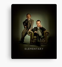 19th Century Sherlock and Watson Canvas Print