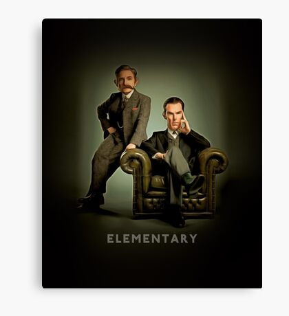 19th Century Sherlock and Watson Canvas Print
