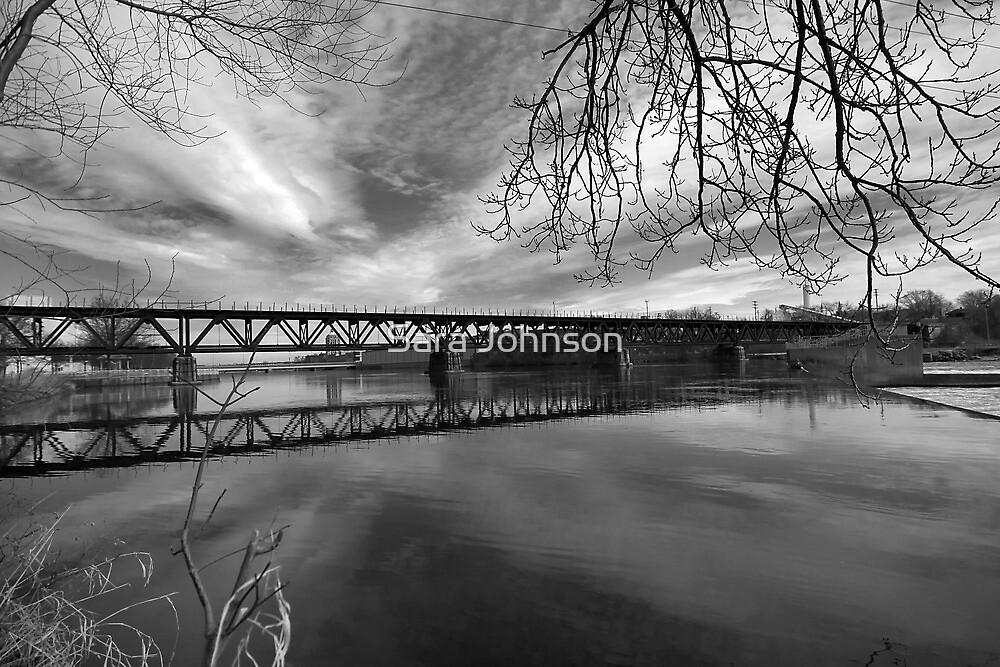 Bridge in Black and White lll by Sara Johnson
