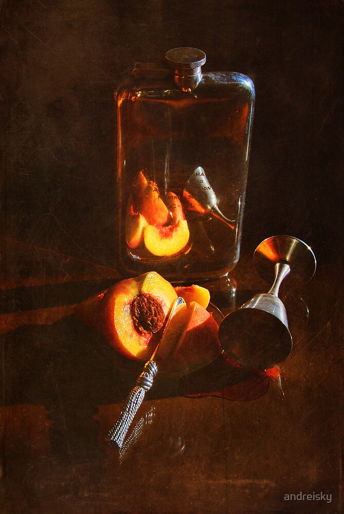 Still life with peaches by andreisky