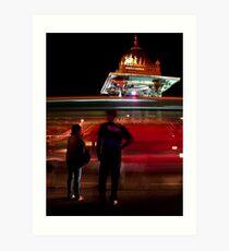 A busy night in Mysore Art Print