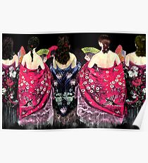 Women in flamenco shawls Poster