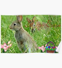 Happy Easter - Wild Bunnies - NZ Poster