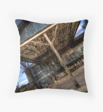 Old Building - Decatur , Texas Throw Pillow