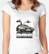DeLorean Tee Shirt Women's Fitted Scoop T-Shirt