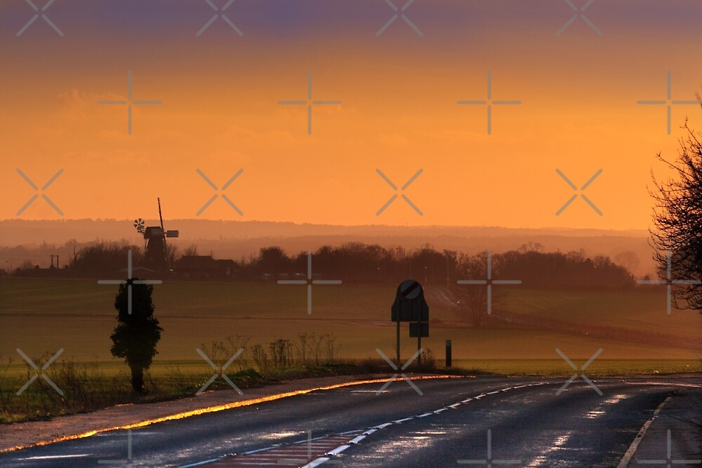 The Road to Sarre at dusk by Geoff Carpenter