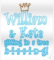 William & Kate Poster