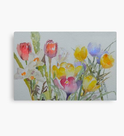 Spring: mixed flowers Canvas Print