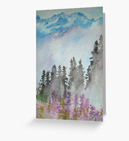 The Pacific Northwest Mountains Greeting Card
