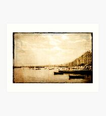 Harbour Salonika 1968 Art Print