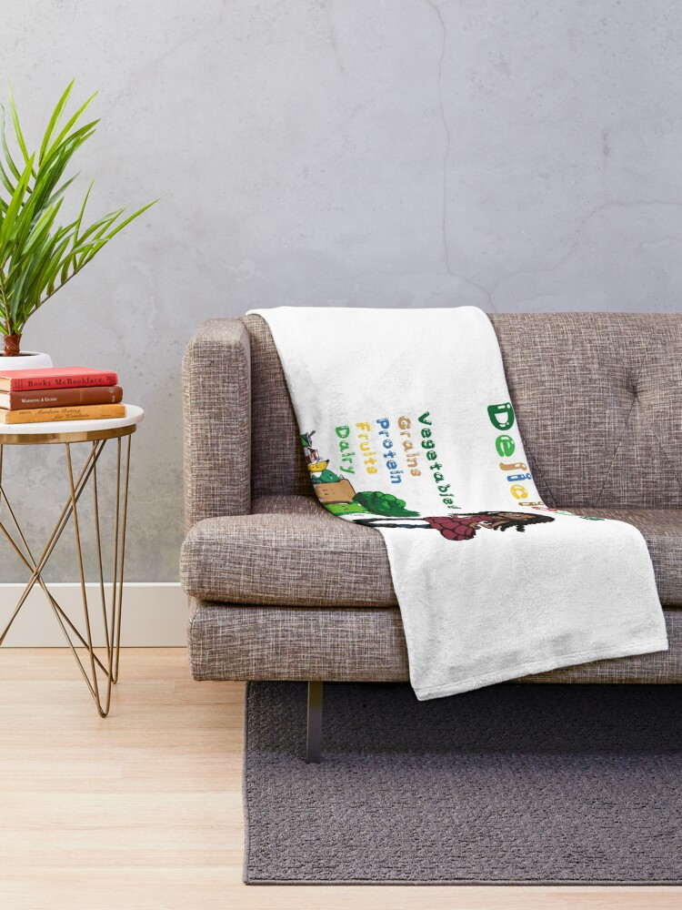 Alternate view of DELICIOUS Eat Healthy with NIK Throw Blanket