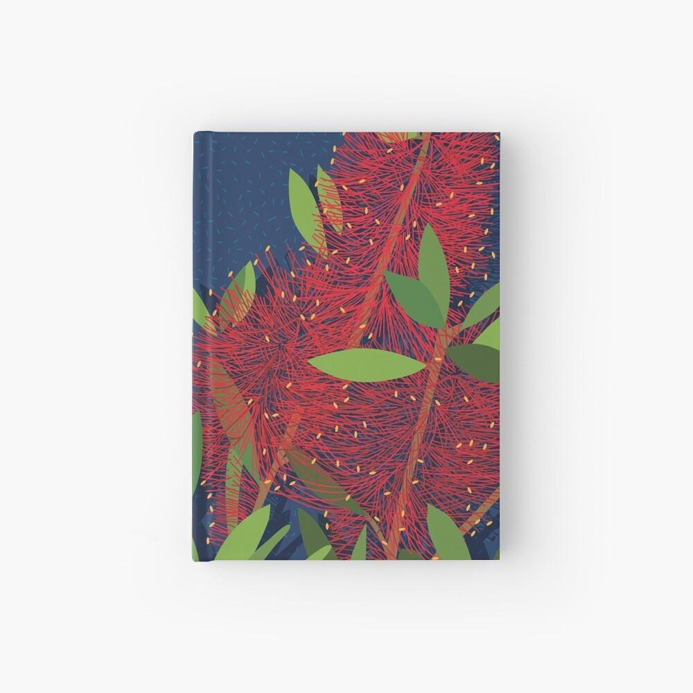 Red Bottlebrush Flowers Hardcover Journal